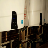 Commercial hot water upgrade - 3 Naviens